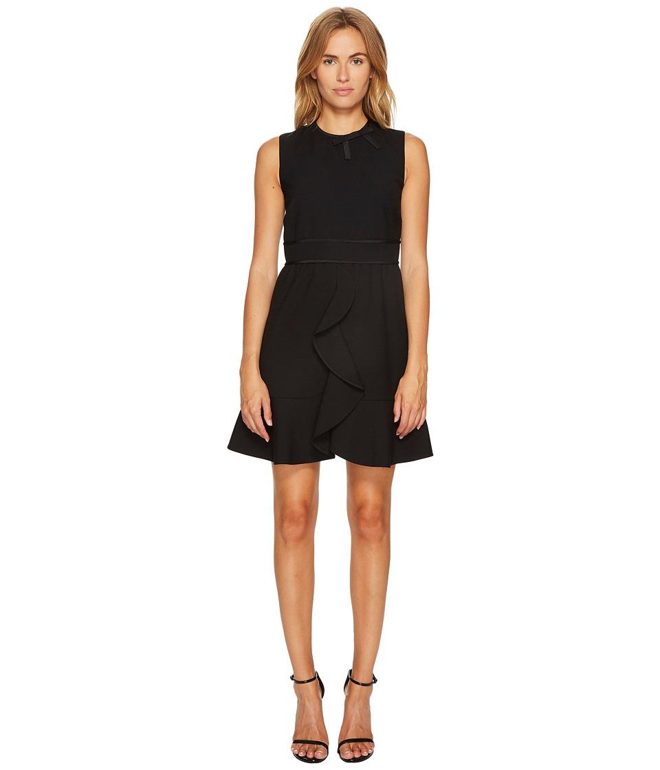 RED VALENTINO Cady Tech Dress (Black) Women