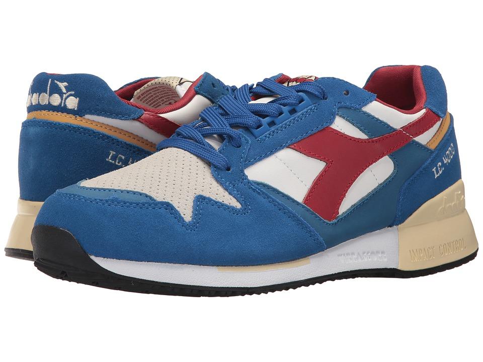 Diadora I.C. 4000 Premium (Nautical Blue/Pompeian Red/Van) Athletic Shoes