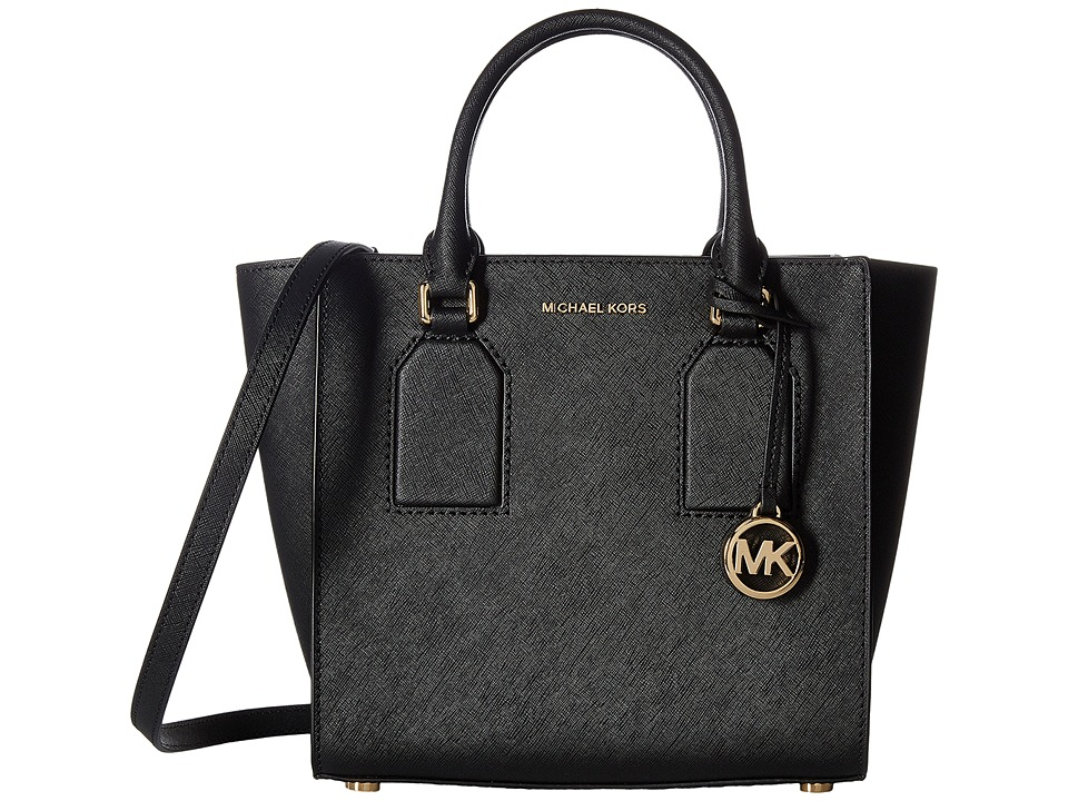 MICHAEL Michael Kors - Selby Medium Satchel (Black) Satchel Handbags