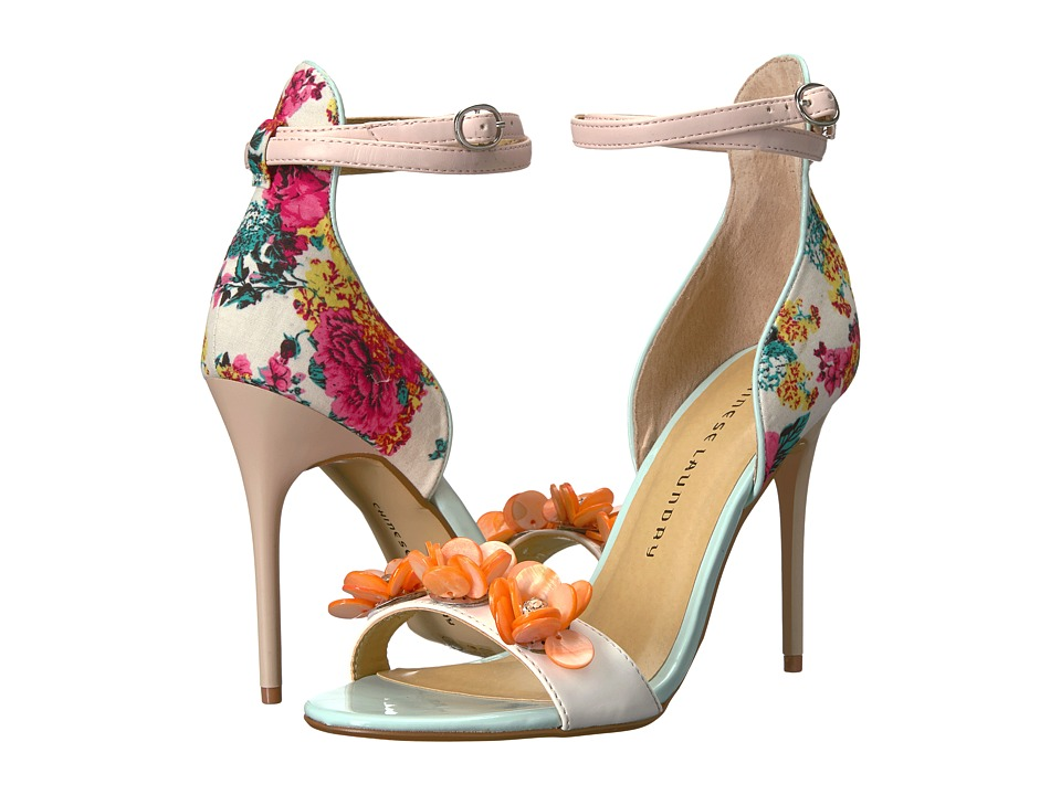 Chinese Laundry - Lily (White Multi Floral Print) High Heels