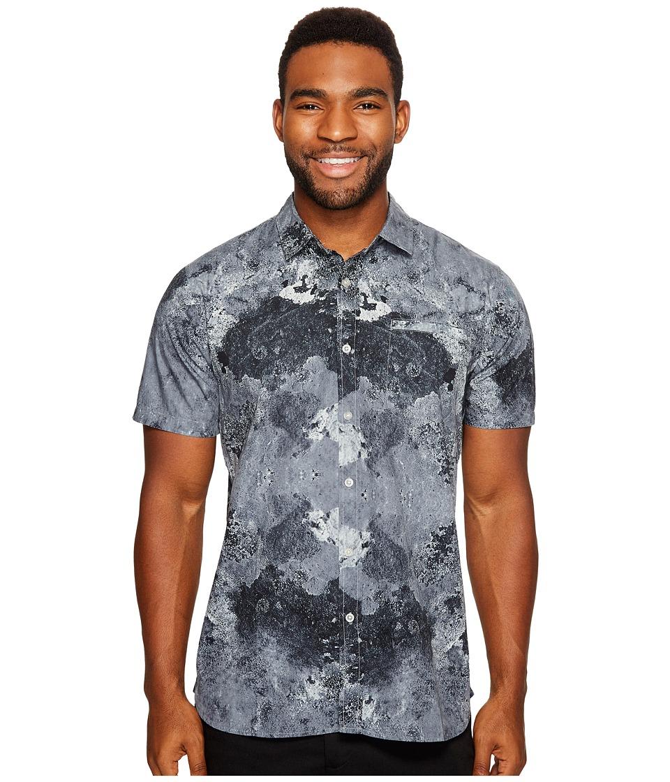Tavik Porter Print Short Sleeve Shirt (Grey Tidepool) Men