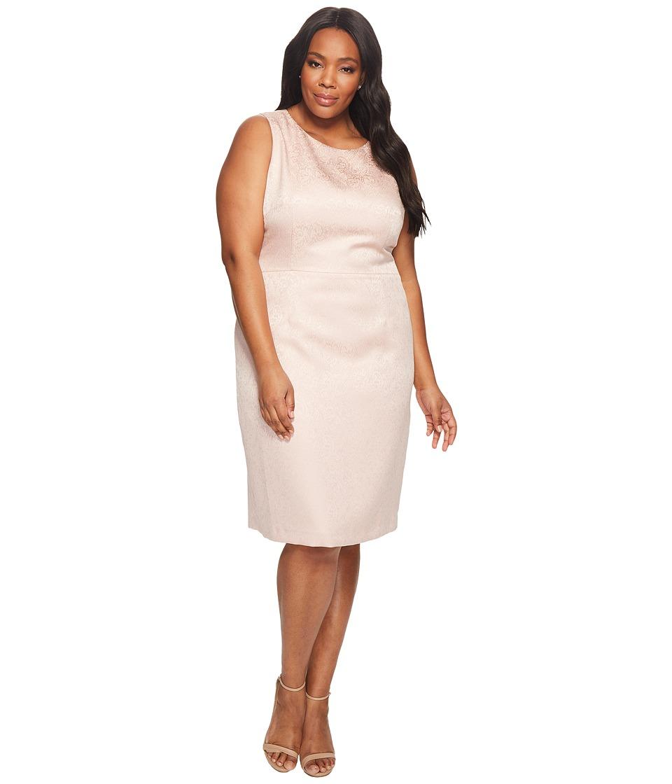 Tahari by ASL Plus Size Sleeveless Dress (Blush Pink) Women