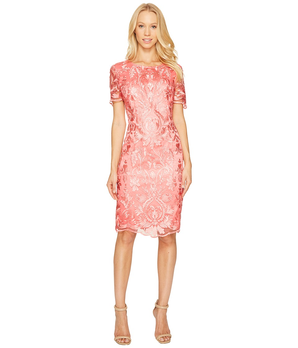 Tahari by ASL - Sleeveless Lace Dress (Peach Orange) Women's Dress