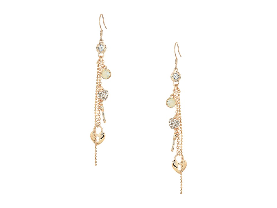GUESS - Charmy Linear Earrings (Rose Gold/White Opal) Earring