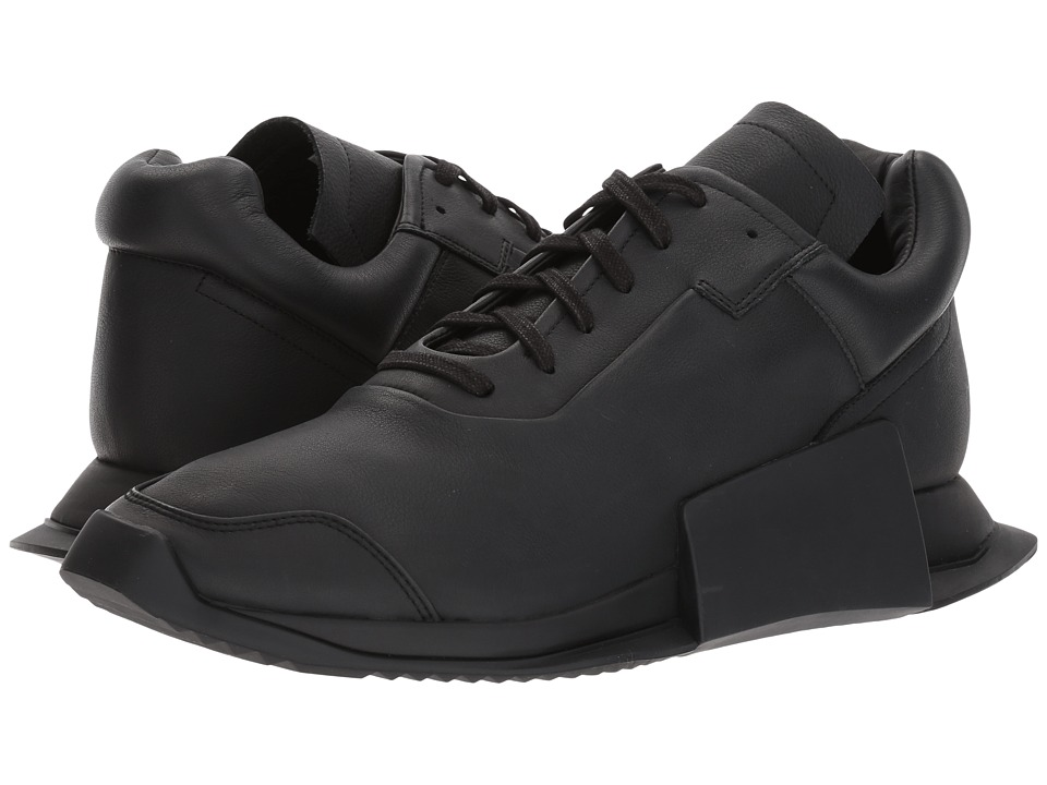 adidas by Rick Owens - RO Level Runner Low II (RO Black/RO Milk/RO Black) Men's Shoes