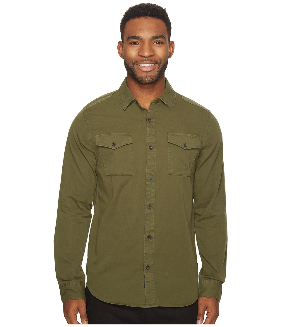 Roark - Warfare Woven Button-Up Shirt (Army) Men's Clothing