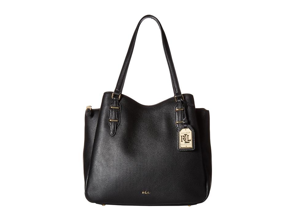 LAUREN Ralph Lauren - Easby Fenmore Medium Hobo (Black) Hobo Handbags