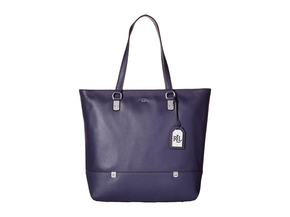 LAUREN Ralph Lauren - Morrison North/South Tote (Marine) Tote Handbags