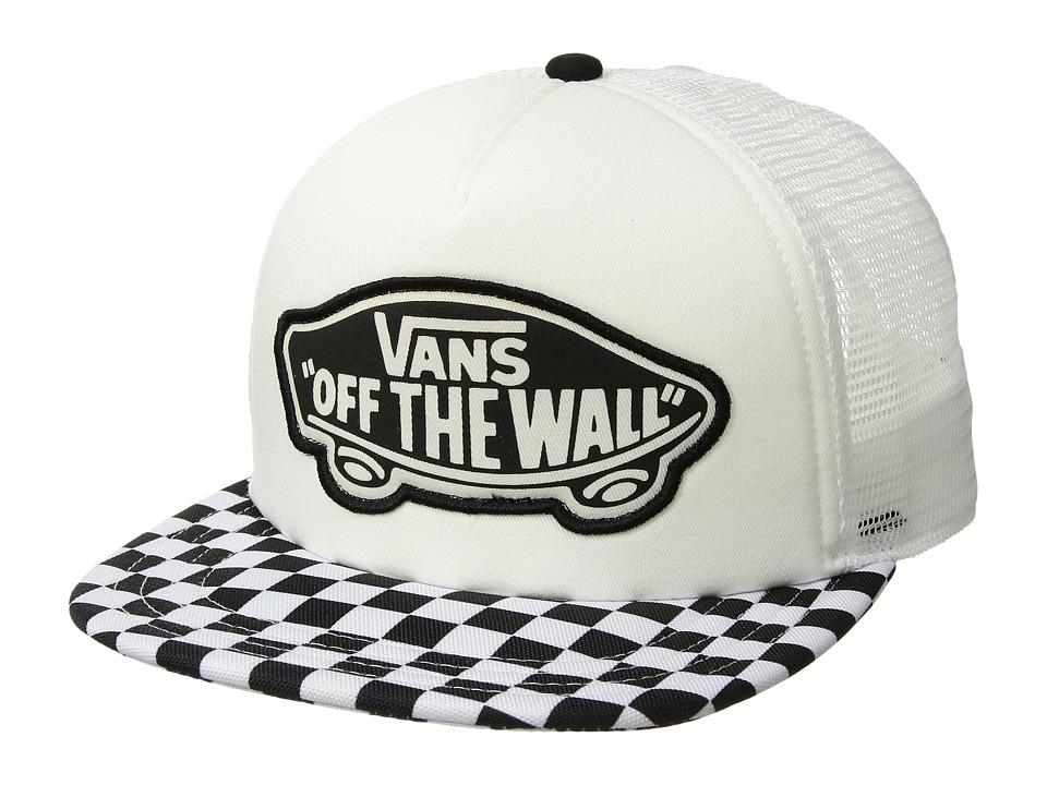 Vans - Beach Girl Trucker Hat (Black/White Checkerboard) Caps