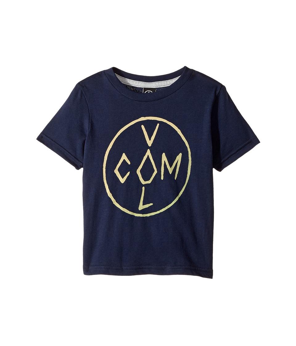 Volcom Kids - Cross Short Sleeve Tee (Toddler/Little Kids) (Indigo) Boy's T Shirt