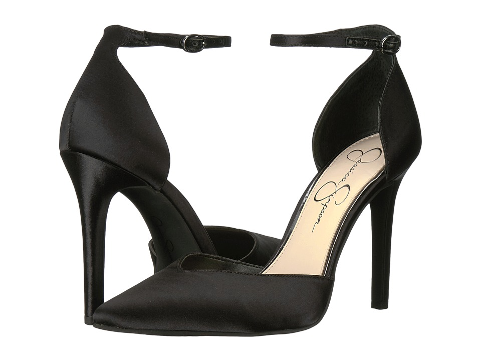 Jessica Simpson Cirrus (Black Crystal Satin) High Heels