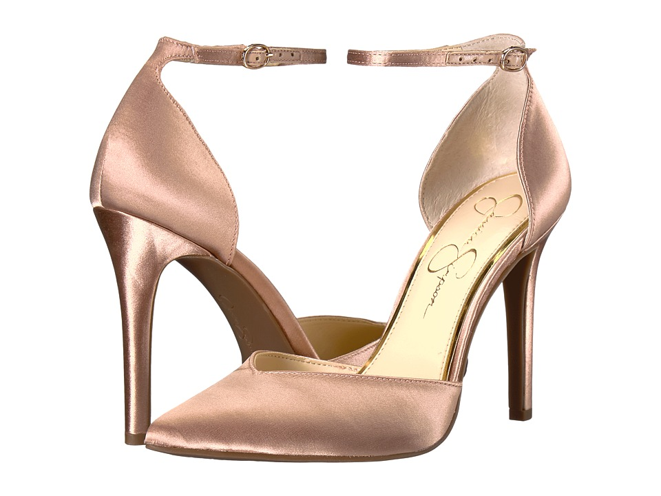 Jessica Simpson Cirrus (Nude Blush Crystal Satin) High Heels