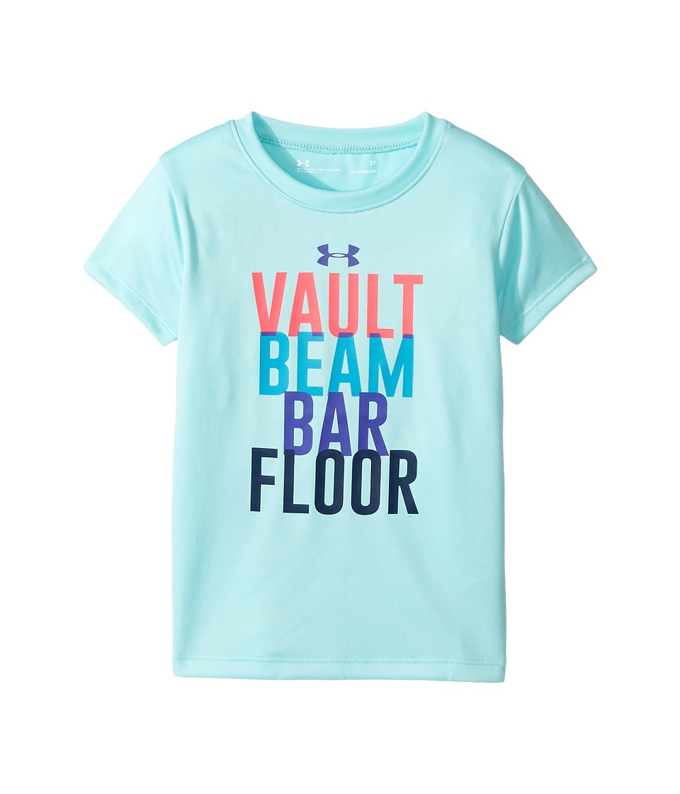 Under Armour Kids - Stations Short Sleeve Shirt (Toddler) (Blue Infinity) Girl's Short Sleeve Pullover