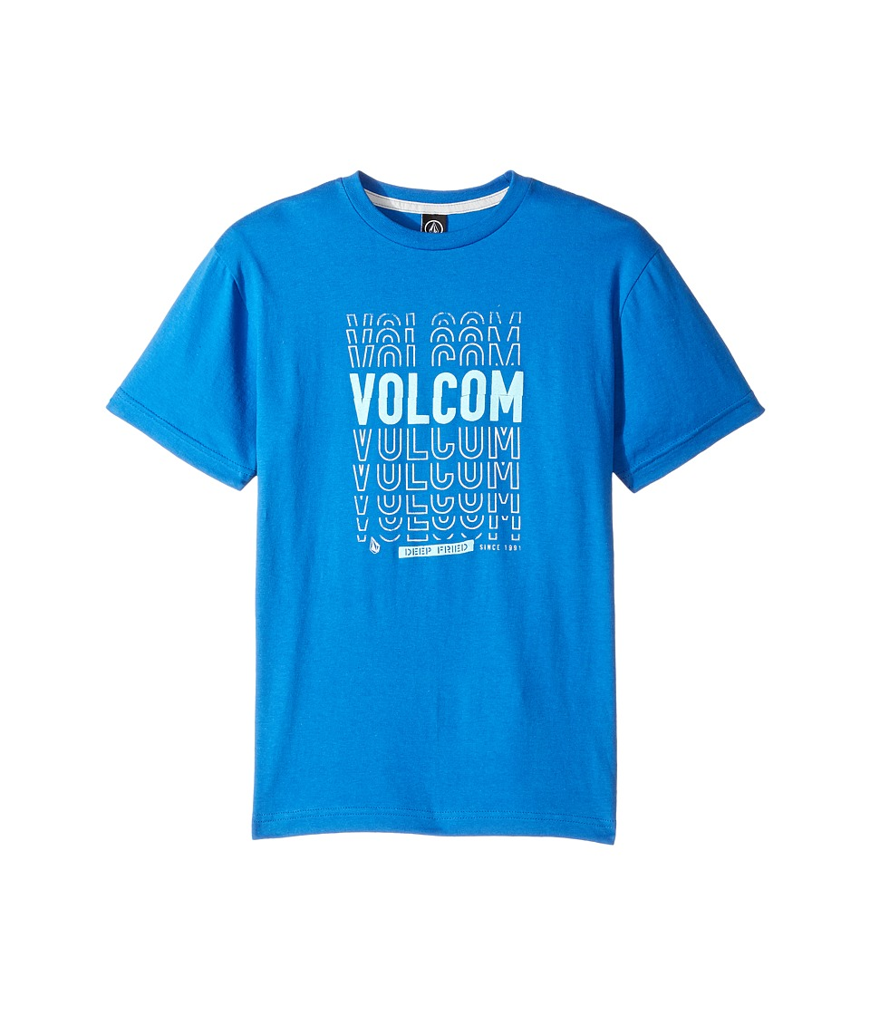 Volcom Kids - Copy Cut Short Sleeve Tee (Big Kids) (True Blue) Boy's T Shirt
