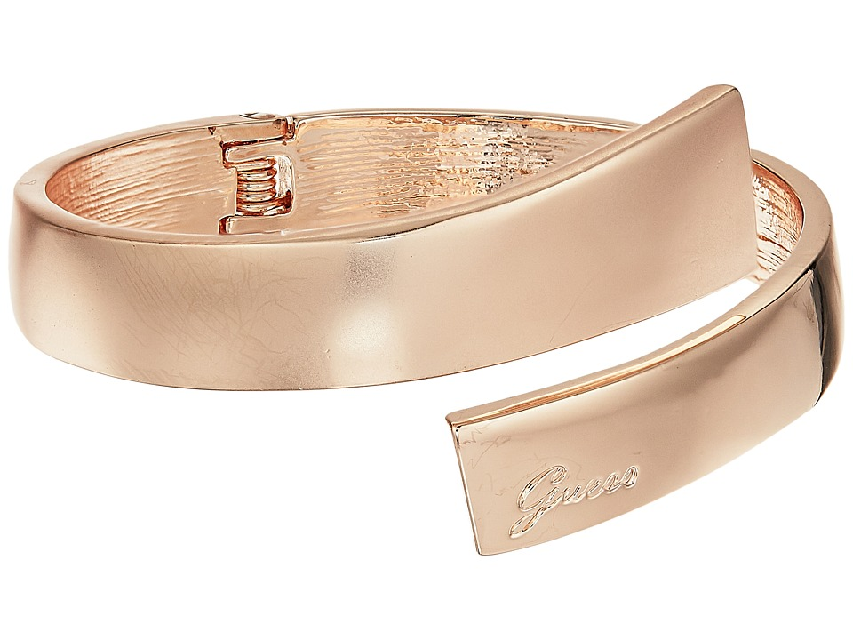GUESS - Hinged Bypass Bangle (Rose Gold/Matte Gold) Bracelet