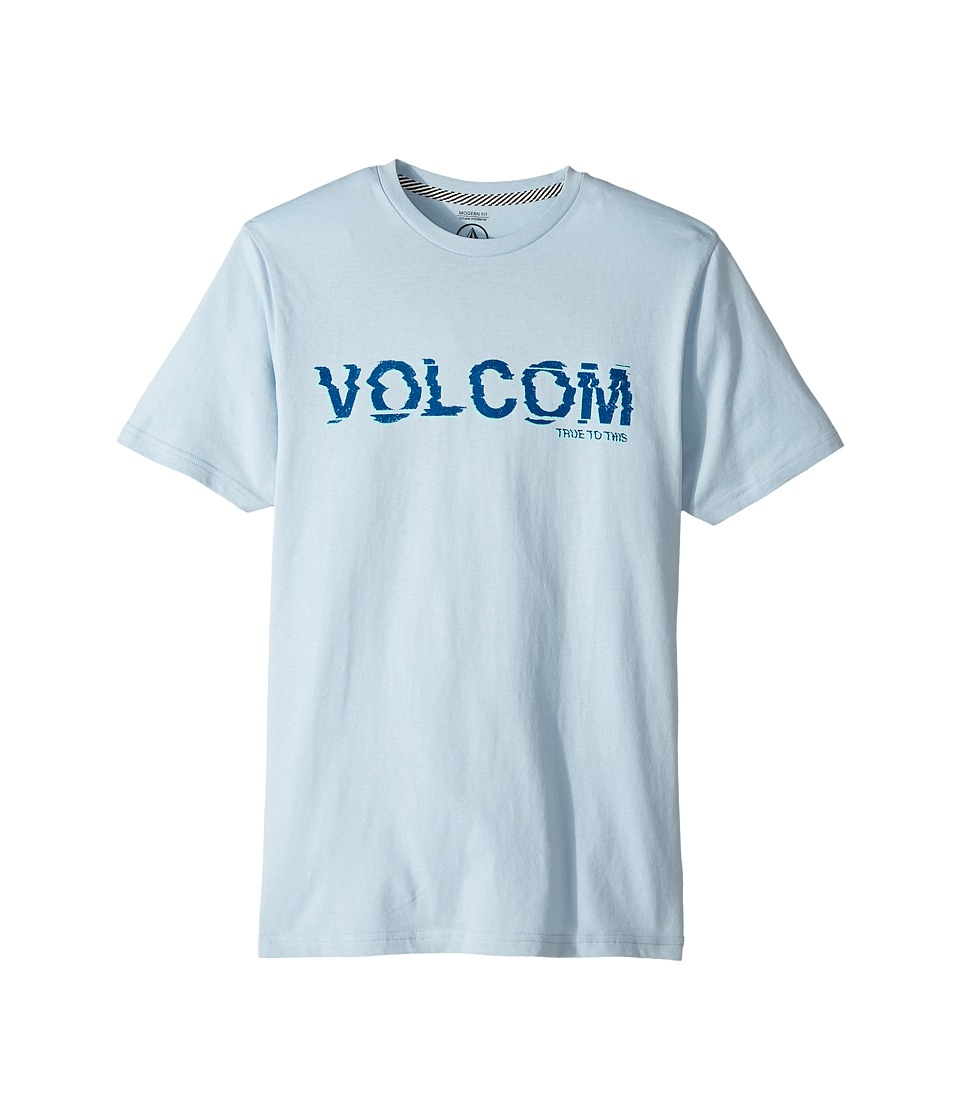 Volcom Kids - Warp Short Sleeve Tee (Big Kids) (Ice) Boy's T Shirt