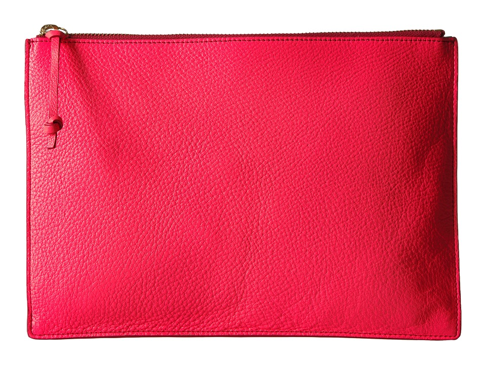 Fossil - Emma Pouch (Neon Coral) Travel Pouch