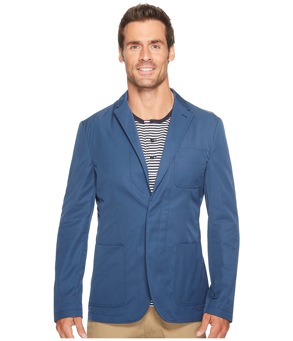 Perry Ellis - Slim Sport Fit Water Resistant Sportcoat (Bay Blue) Men's Jacket