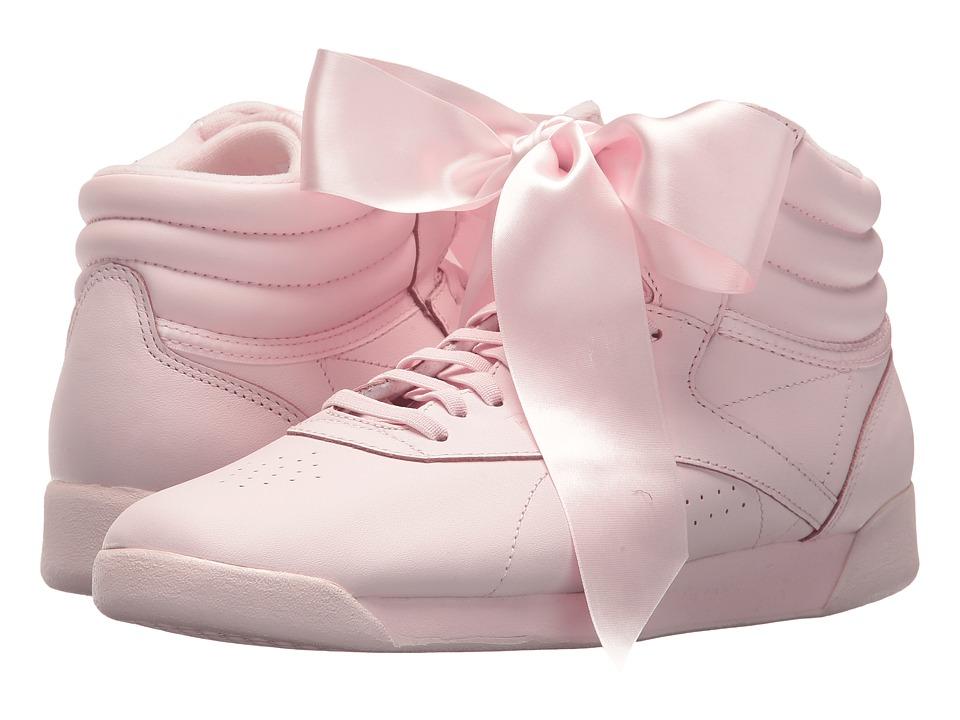 Reebok Lifestyle Freestyle Hi Satin Bow (Porcelain Pink/Skull Grey) Women
