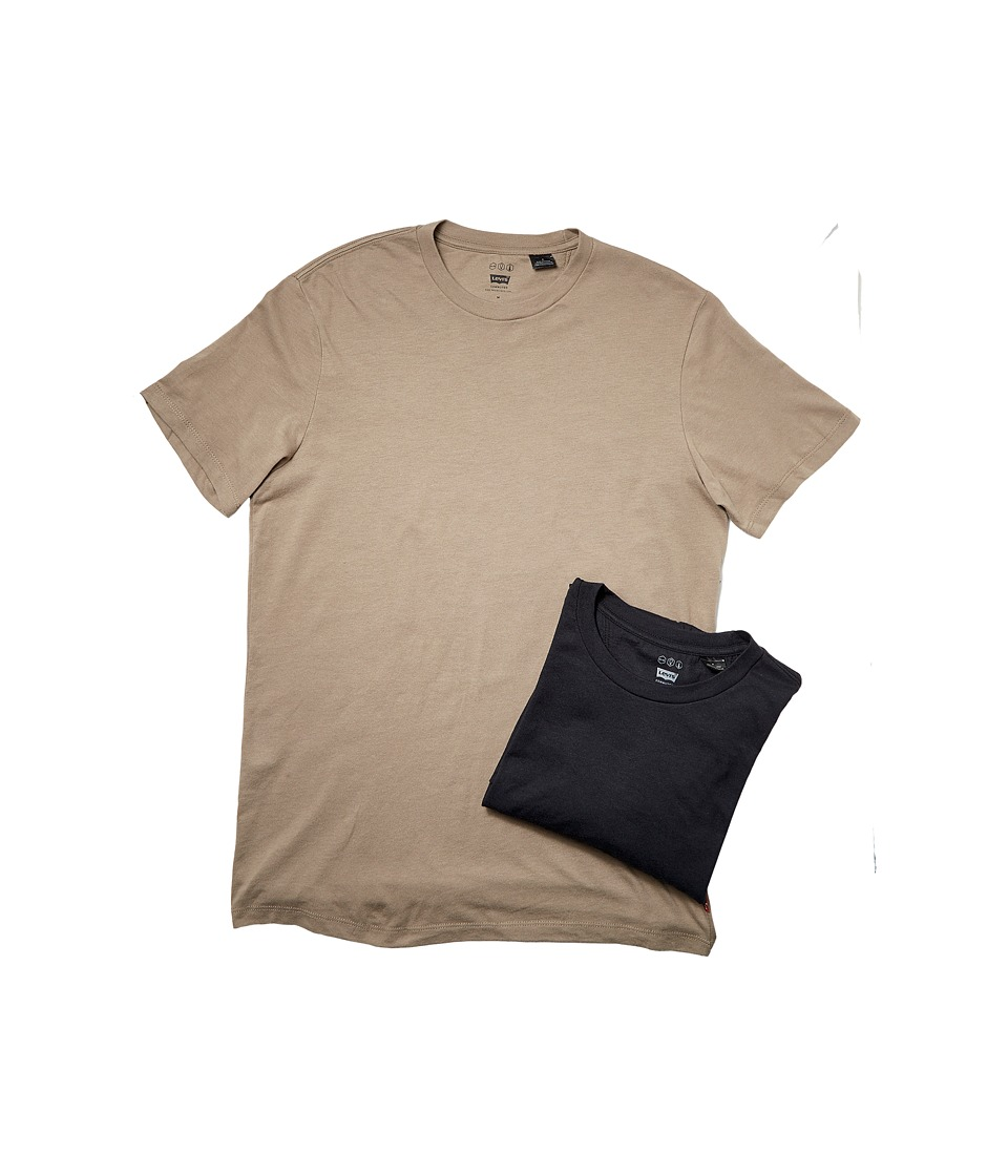 Levi's(r) Mens - Commuter Pro 2-Pack Tee (Fallen Rock/Silver Cloud) Men's T Shirt