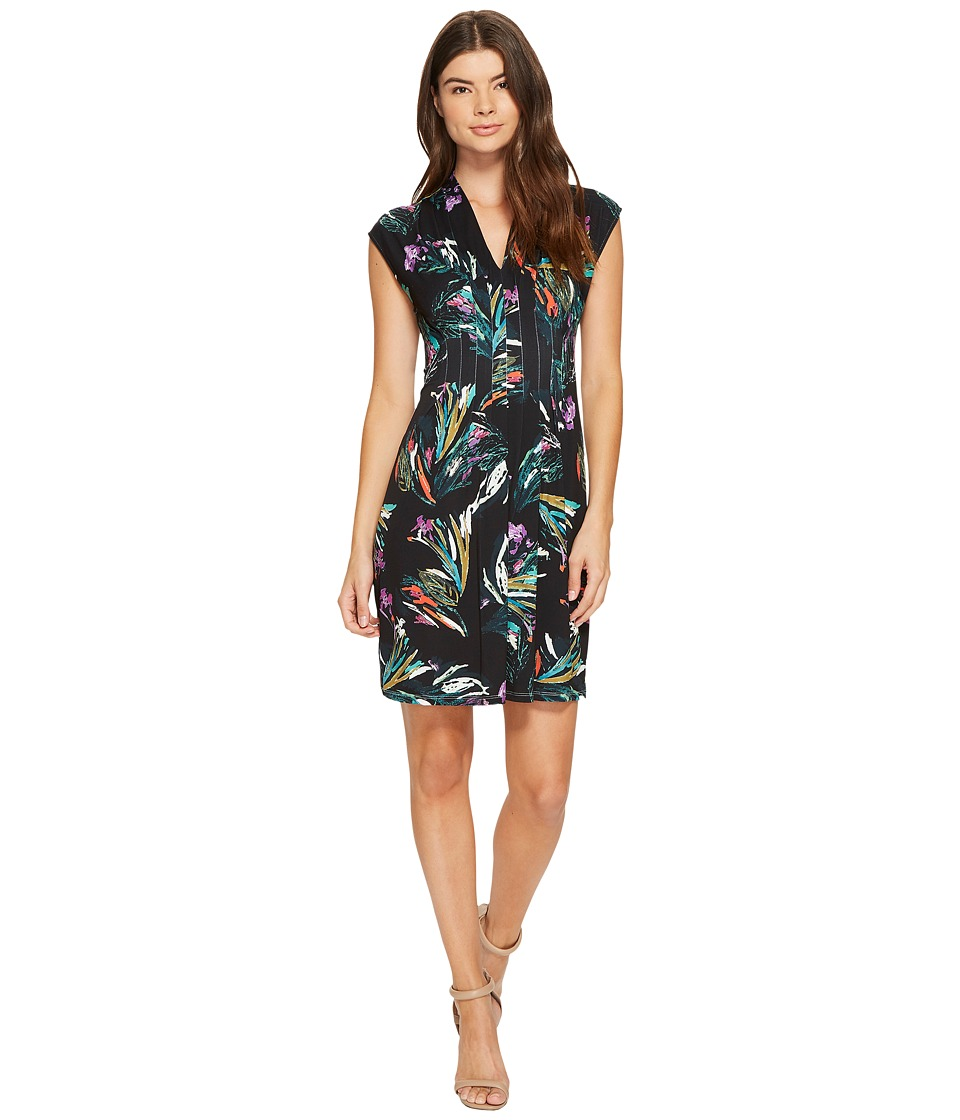 CATHERINE Catherine Malandrino Sleeveless Inverted Pleat Dress (Brushstroke Bouquet) Women