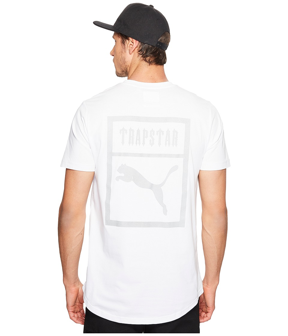 PUMA - Puma X Trapstar Logo Tee (PUMA White) Men's T Shirt
