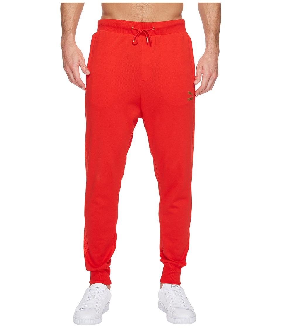 PUMA - T7 Track Pants (Puma Red) Men's Casual Pants