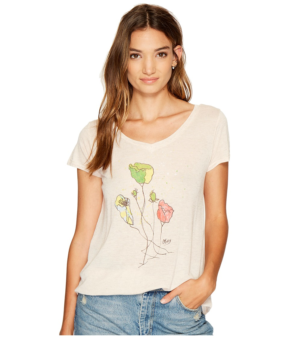 Obey - Simon Flower Tee (Tender Peach) Women's T Shirt