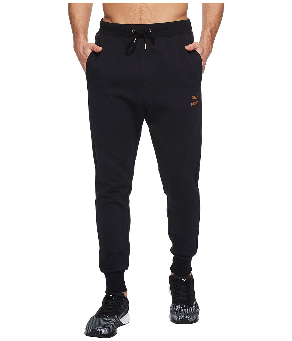 PUMA - T7 Track Pants Metallic (Black) Men's Clothing