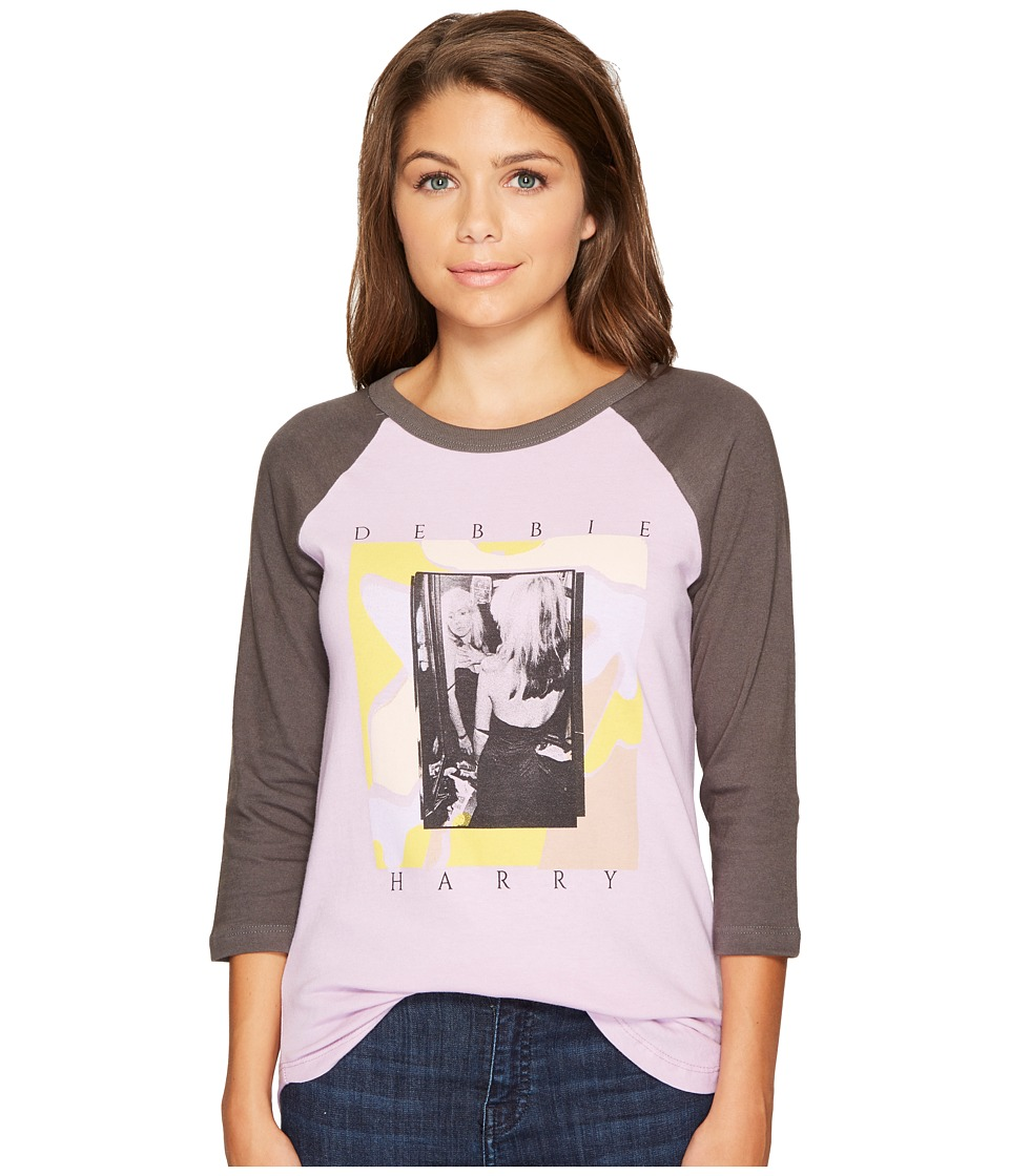 Obey - Modern Debbie Raglan (Orchid/Faded Black) Women's Clothing