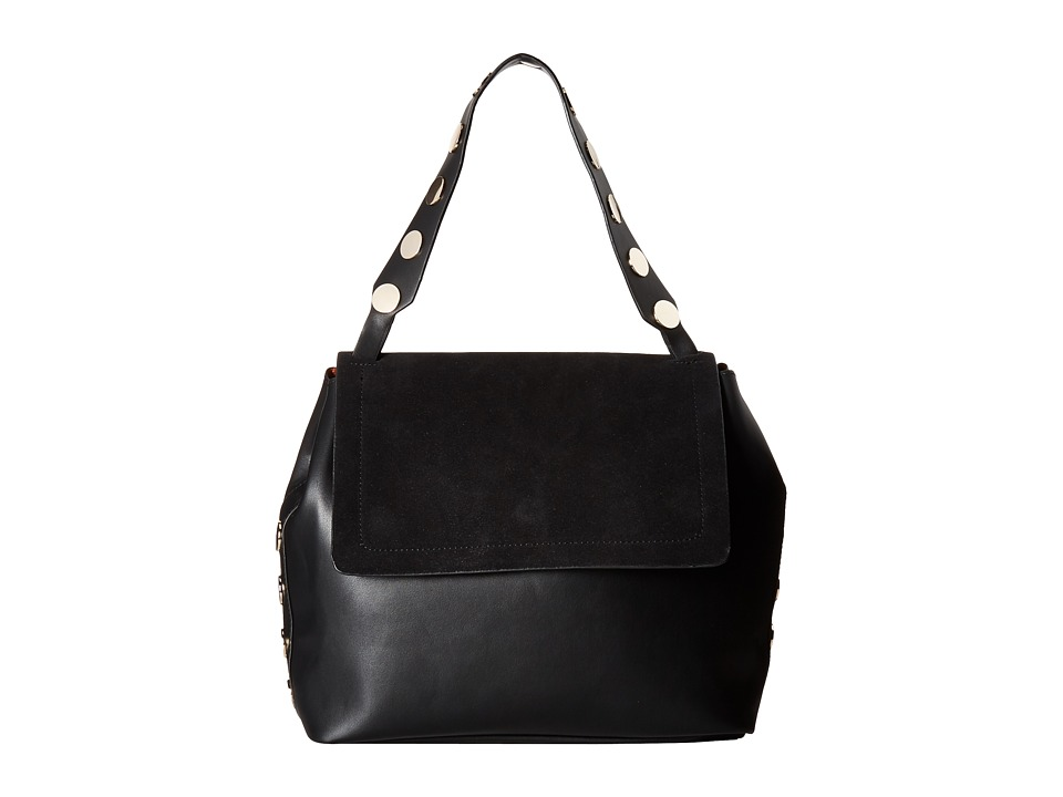 French Connection - Celia Large Flap (Black 1) Handbags
