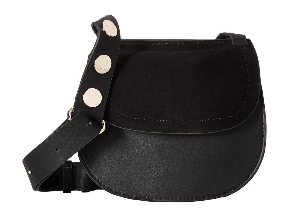 French Connection - Celia Saddle Bag (Black) Shoulder Handbags