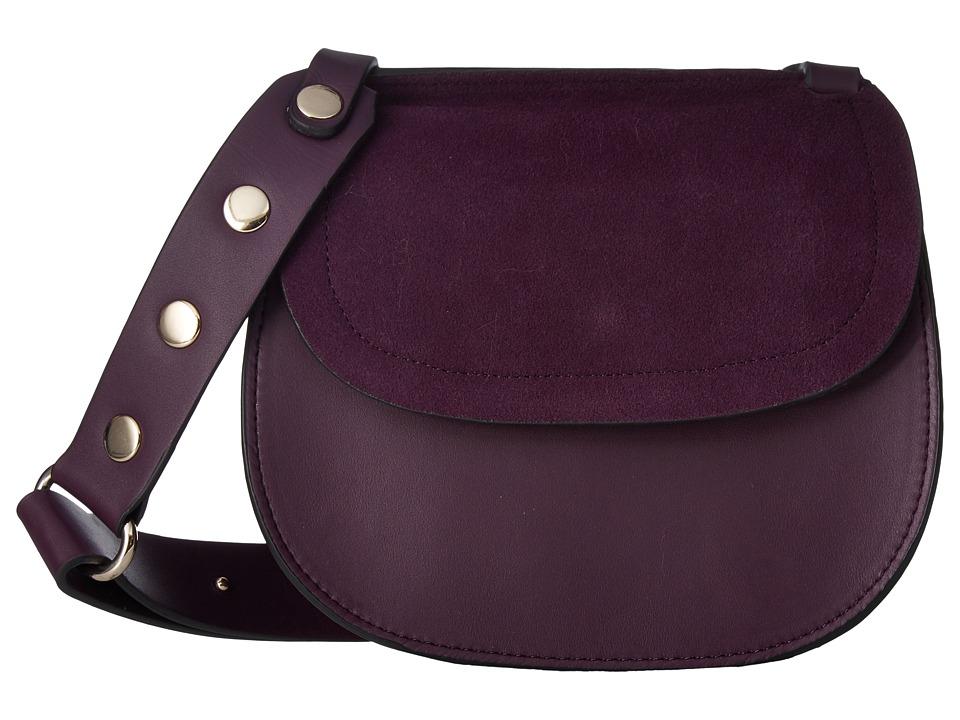 French Connection - Celia Saddle Bag (Deepest Purple) Shoulder Handbags