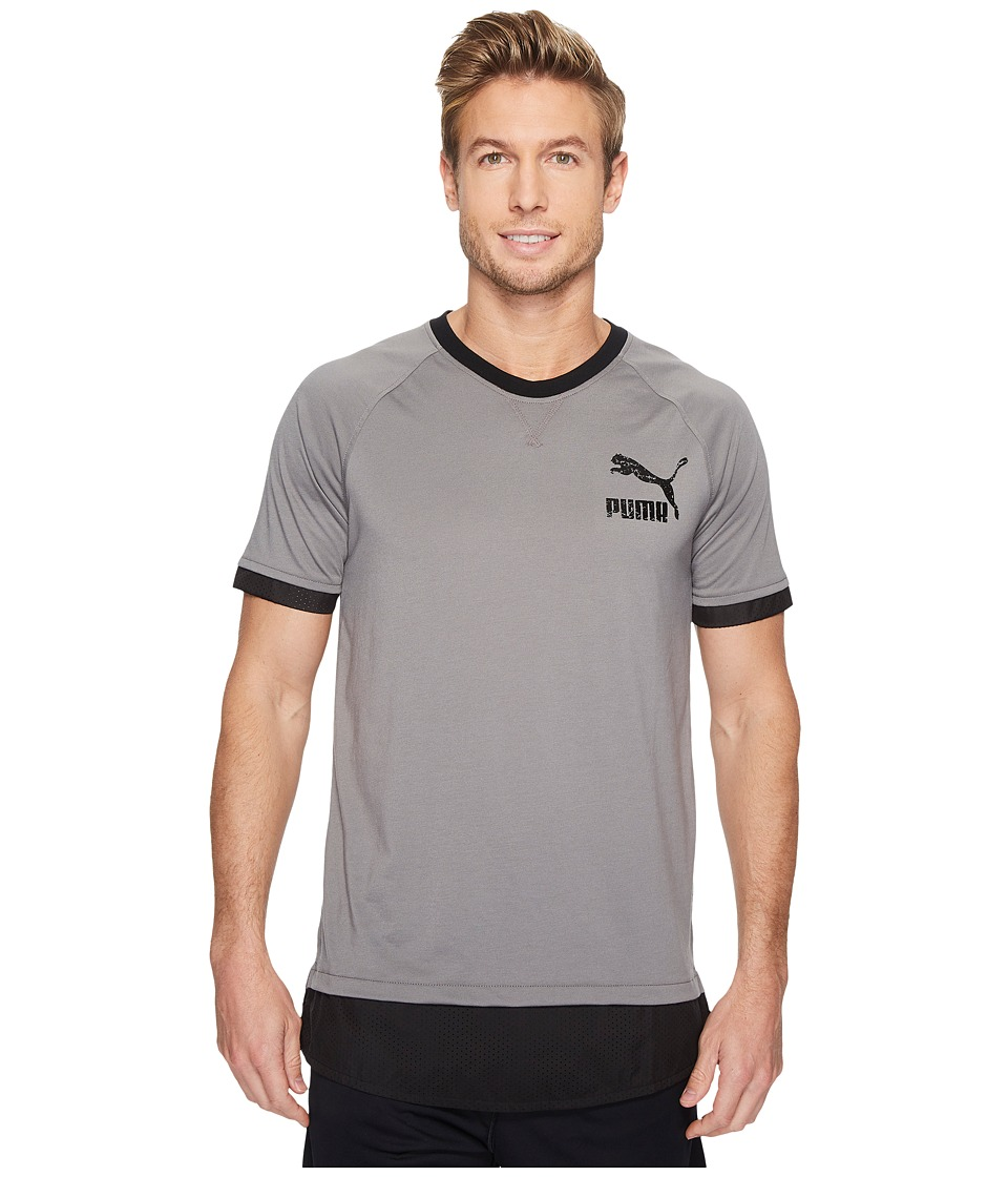 PUMA Onset Tee (Steel Gray/Black) Men