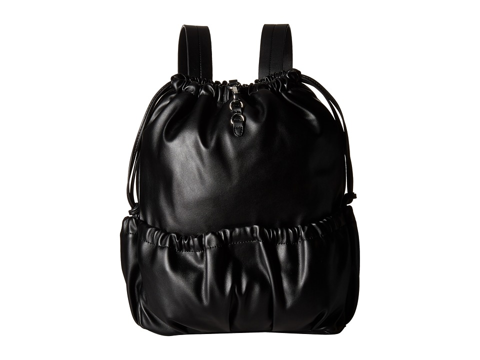 French Connection - Dane Drawstring Backpack (Black) Backpack Bags