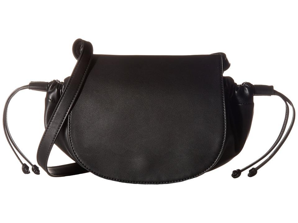 French Connection - Dane Shoulder Flap (Black) Handbags