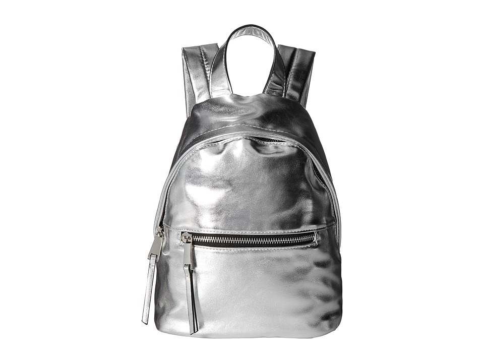 French Connection - Jace Small Backpack (Silver) Backpack Bags