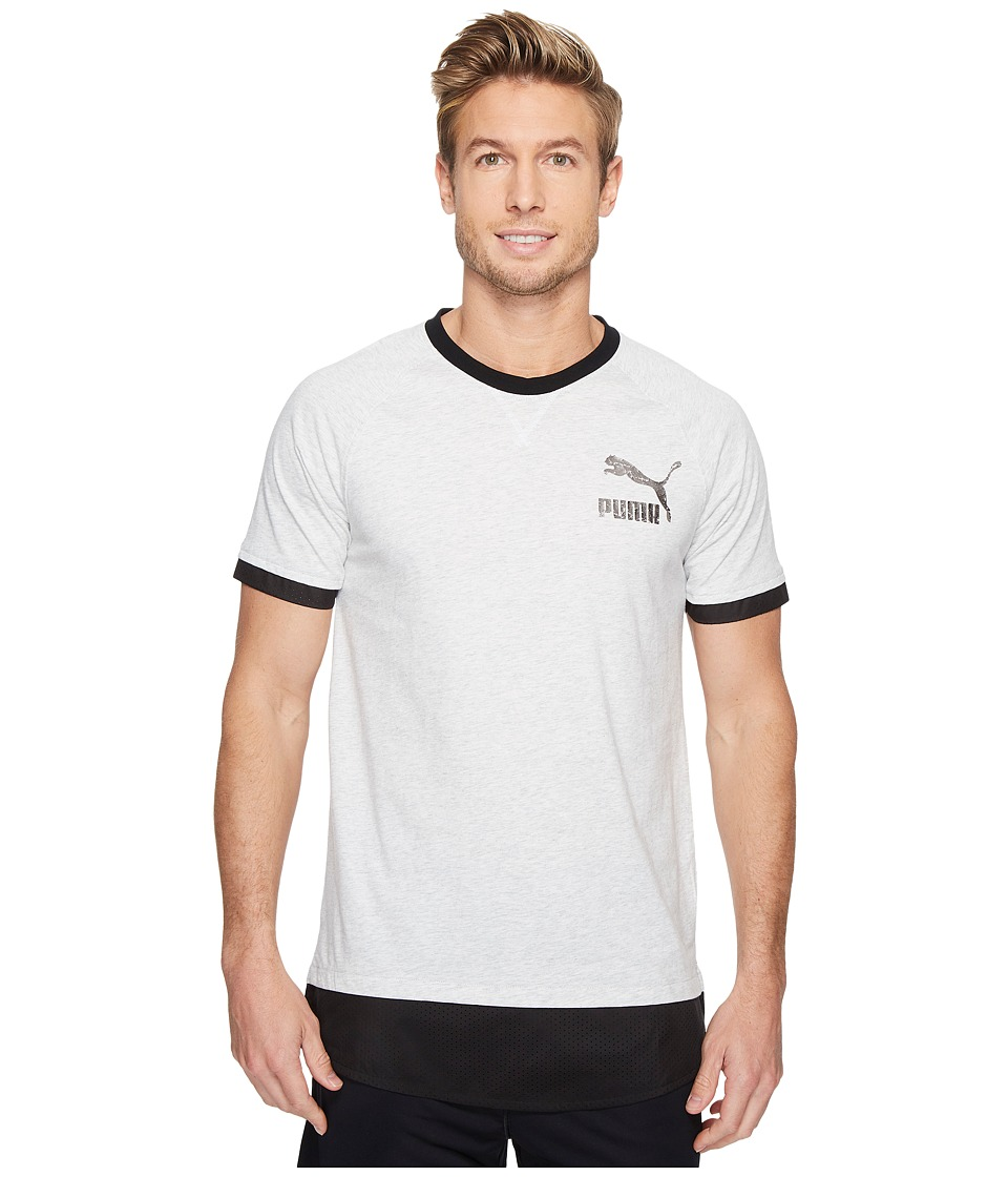 PUMA Onset Tee II (White/Steel Gray) Men