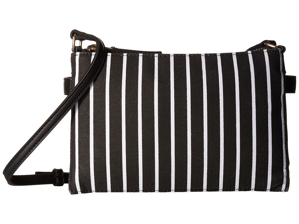 French Connection - Reese Trio Crossbody (Black Stripe) Cross Body Handbags