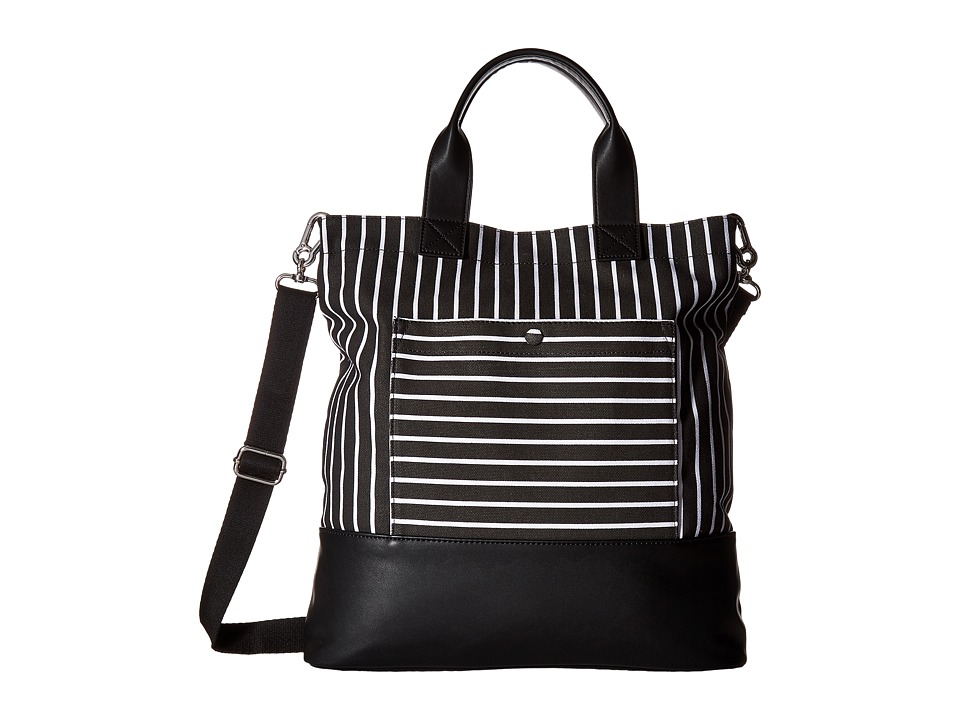 French Connection - Mel Tote (Black Stripe) Tote Handbags