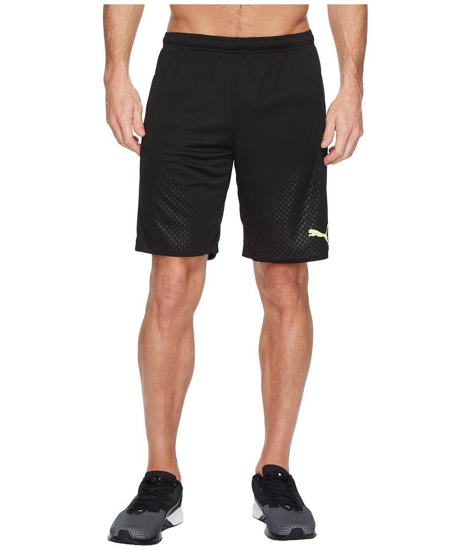 PUMA - It Evotrg Shorts Touch (Puma Black/Green Gecko) Men's Shorts