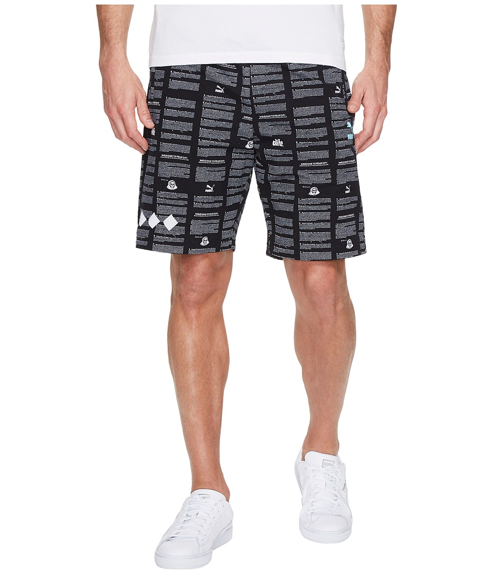 PUMA - Alife Shorts (Black/AOP) Men's Shorts