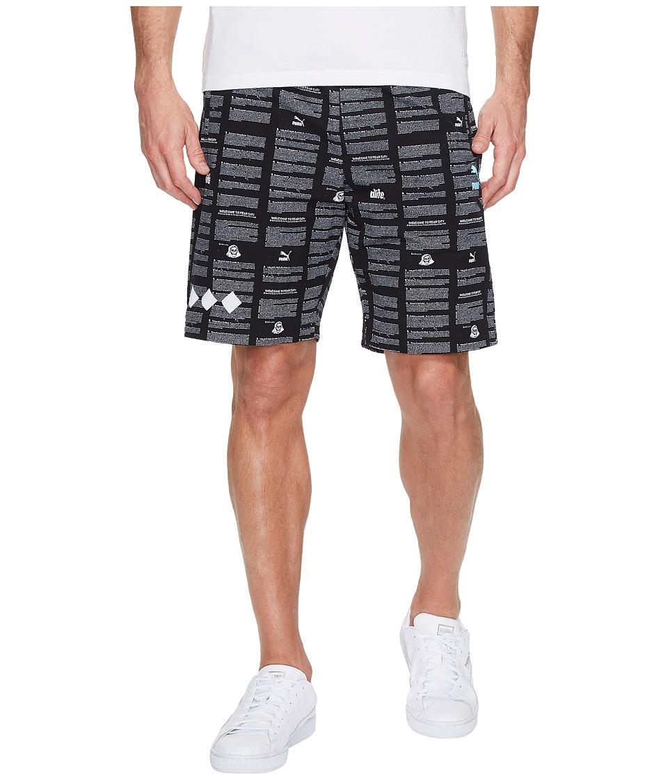 PUMA - Alife Shorts (Black/AOP) Men's Shorts