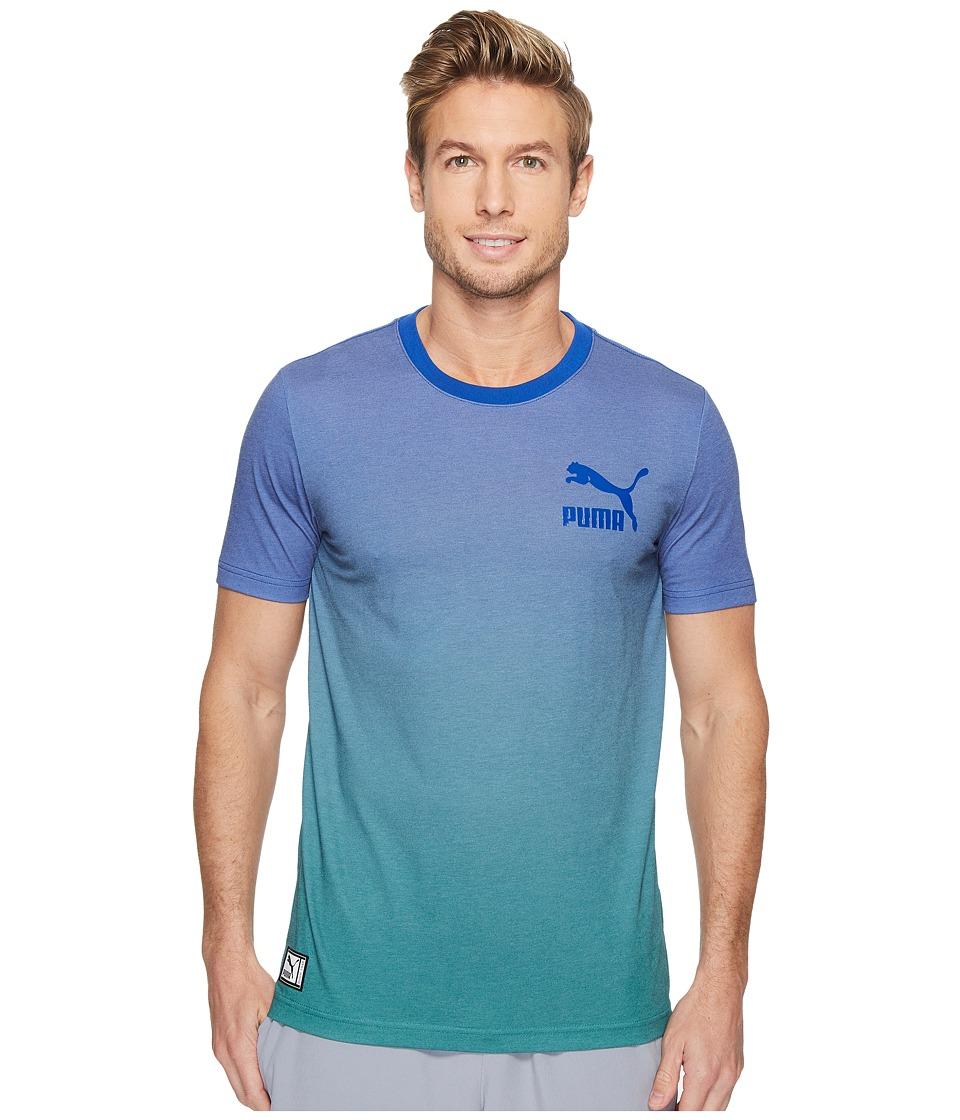 PUMA - Cosmic Tee (Surf the Web/Ultramarine Green Gradient) Men's T Shirt
