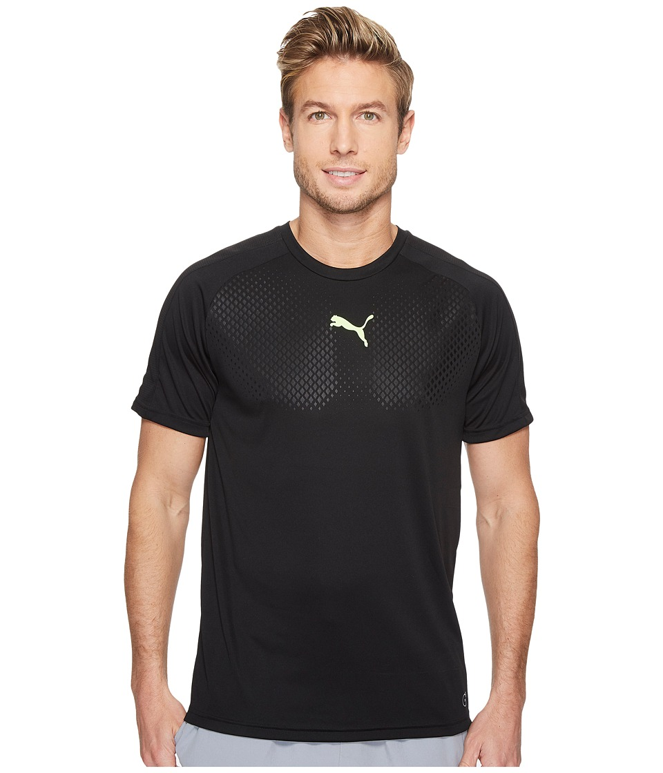 PUMA - IT EVOTRG Graphic Tee Touch (Puma Black/Green Gecko) Men's Clothing
