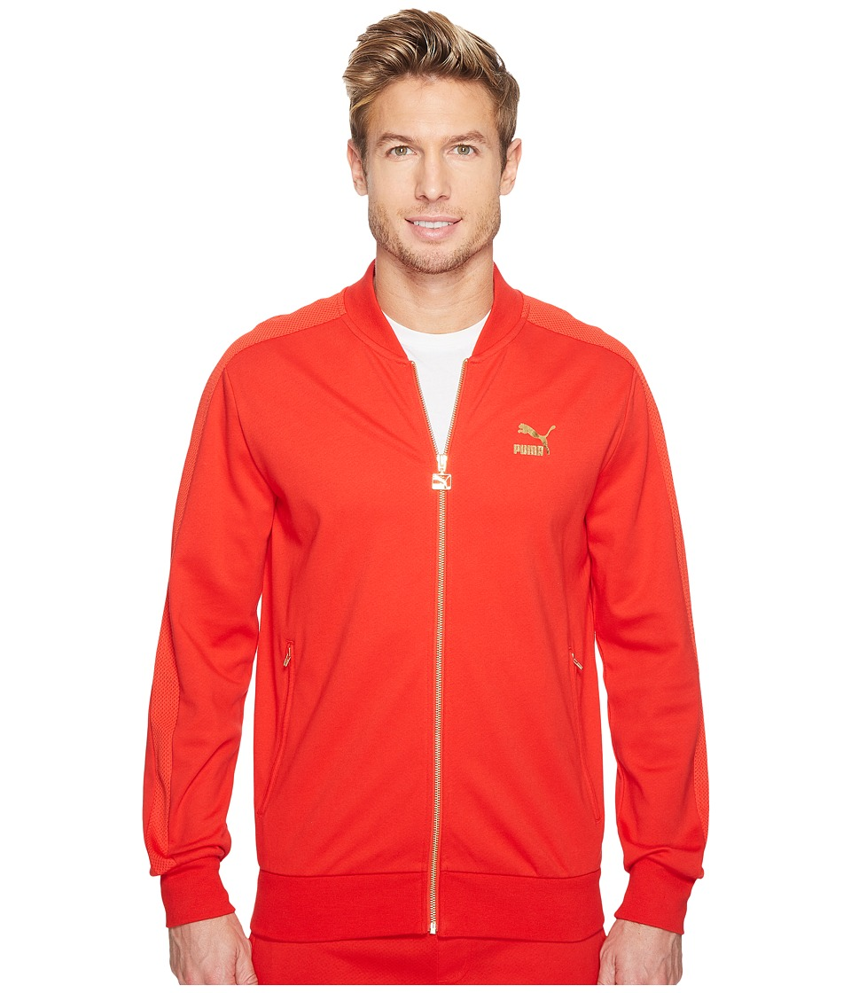 PUMA - T7 Bomber Jacket (Puma Red) Men's Coat