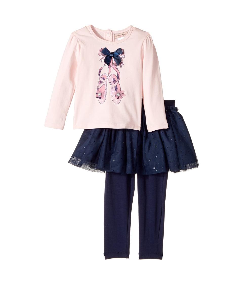 Nanette Lepore Kids - Ballet Slipper Top with Tutu and Leggings Set (Infant) (Pink) Girl's Active Sets