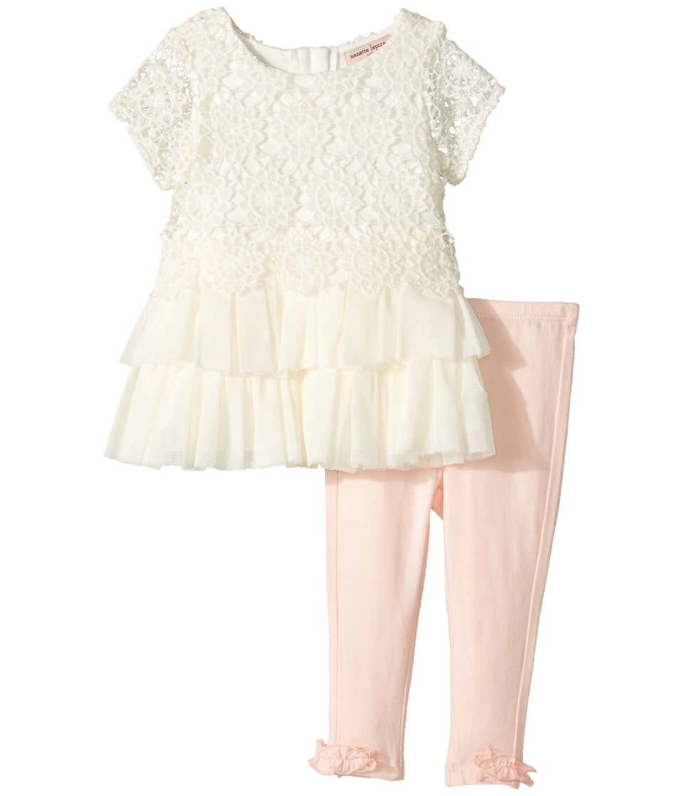 Nanette Lepore Kids - Crochet Lace Tunic Set (Infant) (Cream) Girl's Active Sets