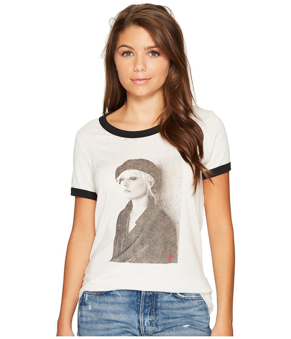 Obey - Debbie Beret Tee (Creme/Black) Women's T Shirt