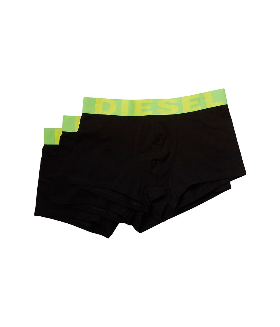 Diesel - Explicit 3-Pack Trunk GAPG (Black/Green) Men's Underwear